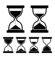 Sand Glass Clock Icons Set vector image