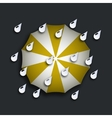 modern yellow umbrella with drops vector image vector image