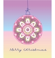 card with christmas ball vector image