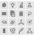 line science icon set vector image