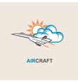 aircraft vector image