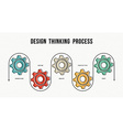 Design thinking process concept design in line art vector image
