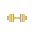 Dumbbell computer symbol vector image