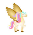 majestic pegasus fantasy creature vector image