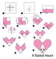 make origami a rabbit heart vector image