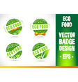 Eco Food Badge Logo vector image