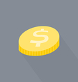 Coin flat icon vector image vector image