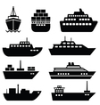 Set of ship icons vector image