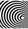 Abstract Ring Spiral Black and White Pattern vector image