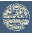 Pacific waves surf camp vector image