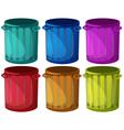 Colorful trashbins vector image