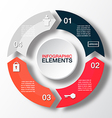 circle arrows for infographicTemplate for diagram vector image vector image