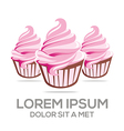 Logo Ice Cream Sandwich Drink Lovely Lollipop kids vector image