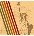 retro statue of liberty vector image vector image