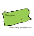 State of Pennsylvania vector image