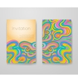 Business card with vivid lines pattern vector image