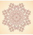 Decorative hand drawn mandala vector image
