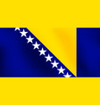 flag of bosnia and herzegovina - vector image