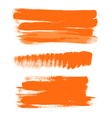 Orange gouache brush strokes the perfect backdrop vector image