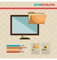 retro infographic design vector image
