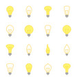 set of color icons of bulbs vector image