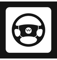 Steering wheel of taxi icon simple style vector image