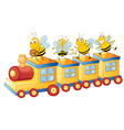 honey bess on train vector image vector image