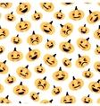 Light flat Halloween pumpkin seamless pattern vector image