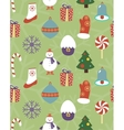 Colorful seamless Christmas pattern vector image vector image