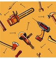 Seamless pattern with construction tools vector image