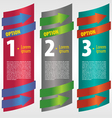 Vertical banner with number vector image vector image