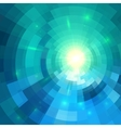 Abstract blue shining circle tunnel background vector image