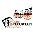 Halloween scary banners vector image vector image