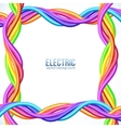 Colorful plastic twisted cables frame vector image