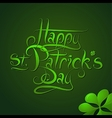St Patrick Day greeting card calligraphy vector image vector image
