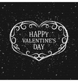 Valentine day Hand drawn ornamental heart vector image