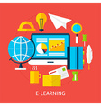 Education and Online Learning Flat Concept vector image