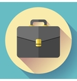 Dark Briefcase icon Flat designed style vector image