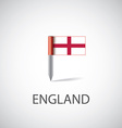england flag pin vector image