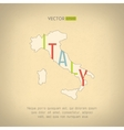 italy map in vintage design Italian border vector image