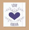 love forever poster on linear page vector image