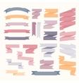Pastel color ribbons set vector image