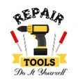 Repair work tools emblem vector image
