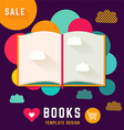 Template with open book vector image