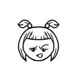 Thin line smriking face icon vector image