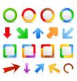 Design elements with arrows vector image vector image