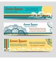 Sea style horizontal banners set vector image