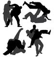Judo Silhouette vector image vector image