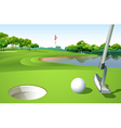 A golf course vector image