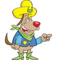 Cartoon Cowboy Dog vector image